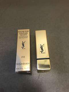 ⭐️New⭐️ YSL lipstick Rouge Pur Couture The Mats 213 唇膏