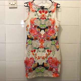 ✨Authentic✨H & M Floral Bodycon Dress Size S