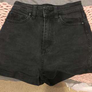 Black lee high waisted shorts pin up