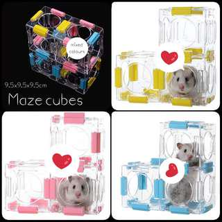 Pet maze cubes for hamsters, gerbils, mice