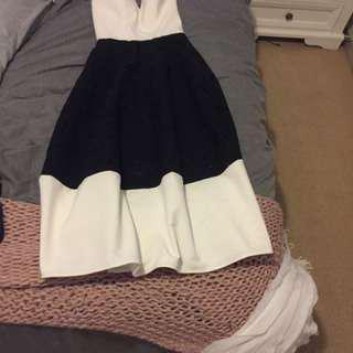 Pilgrim black white formal dress