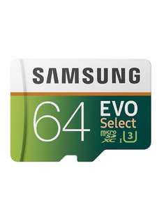 4K UHD Samsung 64GB 100MB/s U3 MicroSDXC EVO Select