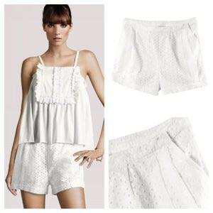 H&M conscious collection eyelet shorts