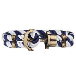 [出售]全新 現貨商品 Paul Hewitt PHREP 船錨手環 藍白尼龍 銅扣(S)情人節、生日禮物 禮品首選👍