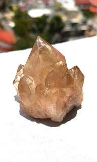 Natural Citrine Crystal point from Africa Congo Lwena Mine