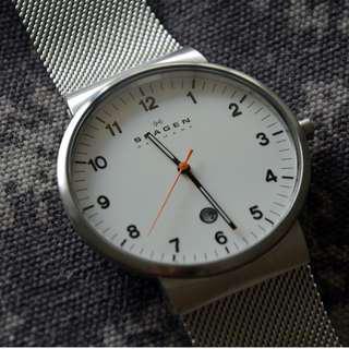 SKAGEN Scandinavian Minimalist Ultra Thin Watch, Milanese Strap