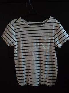 SATURDAYS striped T-SHIRT