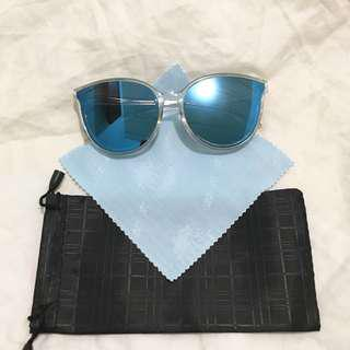 Mirrored Blue Sunglass