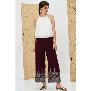 BNWT TCL Enye Embroidered Pants