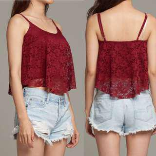 VL6395new miss valley white lace top