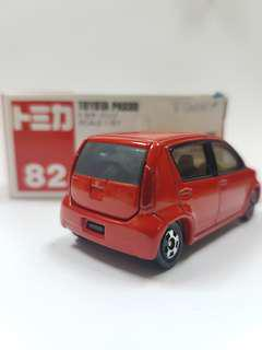 TOMICA TOMY 82- 1:57 SCALE TOYOTA PASSO MINI CAR - RED - 2004 Discontinued