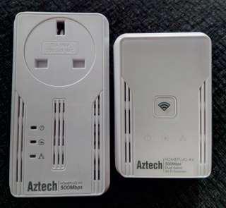 Aztech Homeplug AV 500Mbps set