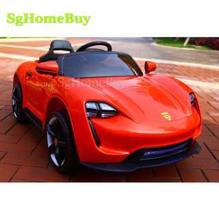 Instock - New Porsche in red kids electric car for kids