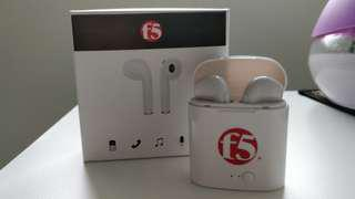 F5 Bluetooth wireless earpods earphones, BNIB