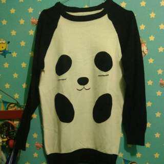 Sweater rajut panda
