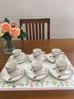 Espresso teacups set