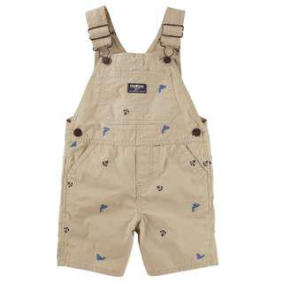 🚚 OKBY039 New Baby Boys Oshkosh B'Gosh Anchors and Whales Schiffli Shortalls