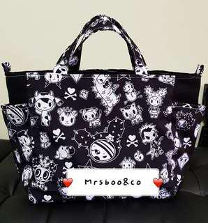 Tote bag with two side pocket