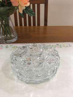 Crystal cut glass container