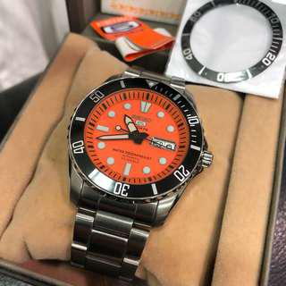 Seiko SNZF19J Rare Orange Urchin