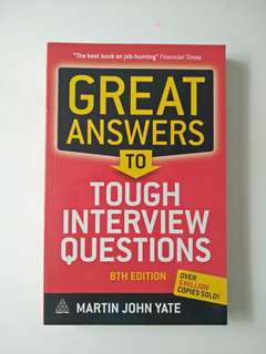 Great Answer to Tough Interview Questions