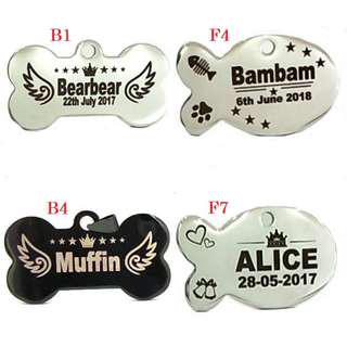 Deep Engraving Customized Pet ID Tag For Dogs & Cats