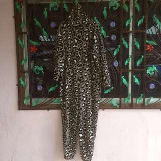 Leopard Print Sleepsuit