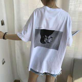 Ulzzang Oversized Graphic Top