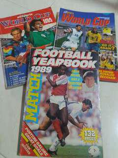 world cup football/soccer books x 3