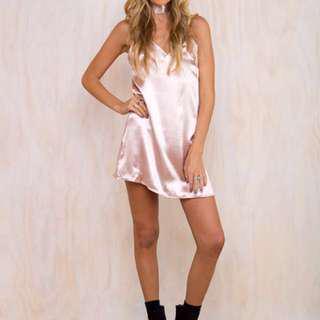 Princess Polly Fia Blush Slip Dress - RRP$75