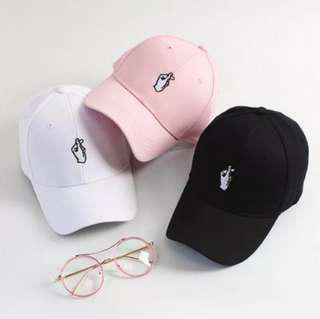 Brand New Finger Heart Love Tumblr Baseball Cap Korean Ulzzang