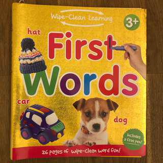 Wipe Clean Learning First Words