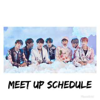 Meet Up Schedule