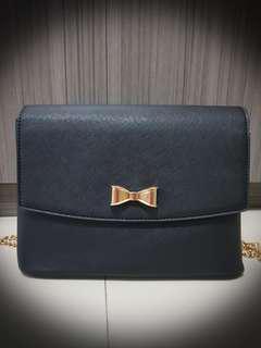 Velvet Black Sling Bag