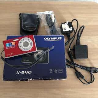 Olympus X-940 Digital Camera Red