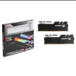 G.skill TridentZ RGB 2X8GB 3000Mhz DDR4 Ram