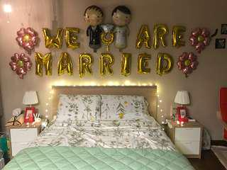 """Free Alphabet Wedding Balloons """"We Are Married"""""""