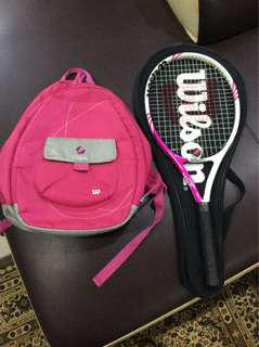 Tenis wilson & bagpack