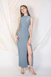 Klarra Pleated Maxi Dress