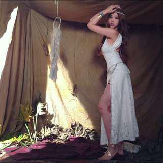 波西米亞 Gigi女神款 蕾絲 長洋裝
