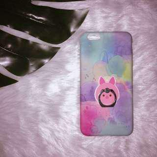 iPhone 6+/6s+ Case w/ holder| Watercolor print Glowing the Dark