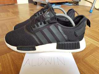 NMD R1 Black Size 9.5 RUSH STEAL! (Adidas not ultra boost flyknit)