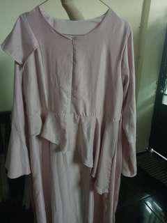 Gamis soft pink maxmara halus