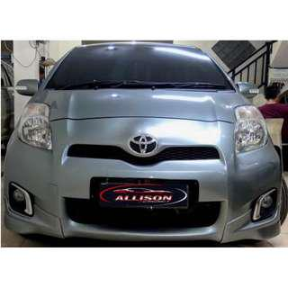 Toyota Yaris E AT 2012 Silver Stone DP 15,9 Jt No Pol Ganjil