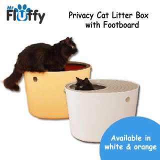 🚚 Privacy Cat Litter Box with Footboard
