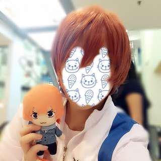 Yowamushi Pedal cosplay shinkai hayato wig+bunny