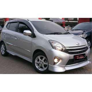 Toyota Agya G AT TRD 2015 Silver DP 11,9 Jt No Pol Ganjil