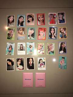 Twice photocard (WIL, Summer Night and twicetagram) and pre order card set