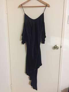 Australian designer Backstage Strappy Black Dress off shoulder
