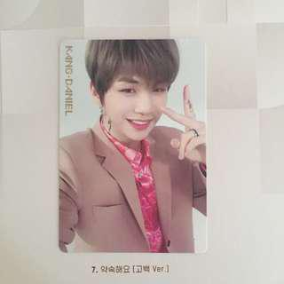( LF ) wanna one i promise you daniel's day version official photocard